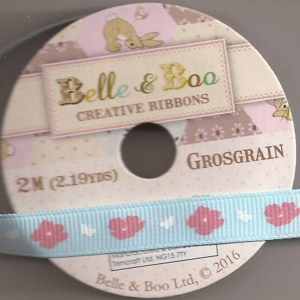 BELLE & BOO Ribbon -   - Панделка  ролка 10 mm. X 2m. FLOWERS
