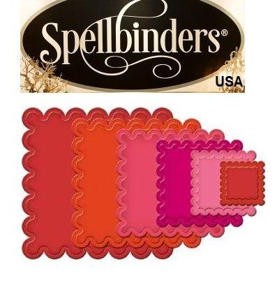 Spellbinders USA LARGE -  Метални шаблони 6бр за изрязване и ембос s4-127