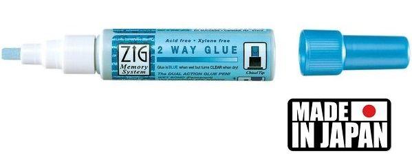 GLUE ZIG  2 WAY - маркер/лепило за лепене и позлата CHISEL TIP