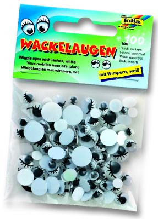 Декоративни очички с мигли - микс размери пакет 100 бр.