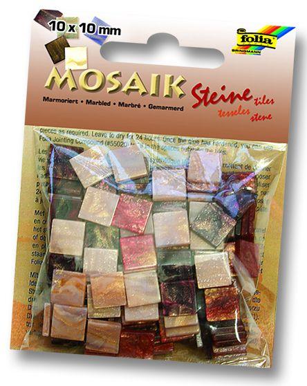 MOSAICS- Мозайка 190бр 10х10мм 45gr RED MARBLE