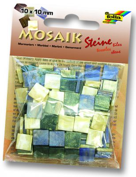 MOSAICS - Мозайка 190бр 10 х 10 мм 45gr BLUE MARBLE
