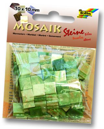 MOSAICS - Мозайка  190бр 10 х 10 мм 45gr  GREEN MARBLE