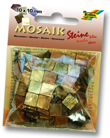 MOSAICS - Мозайка  190бр 10 х 10 мм 45gr BROWN MARBLE