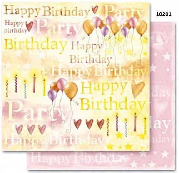 FB Party 01 - Дизайнерски картон с ембос-глитер елементи - 30,5 Х 30,5 см.