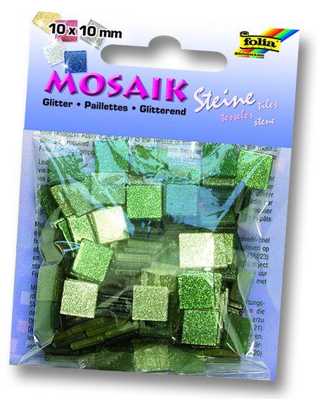 MOSAICS - Мозайка  190бр 10 х 10 мм 45gr GREEN GLITTER