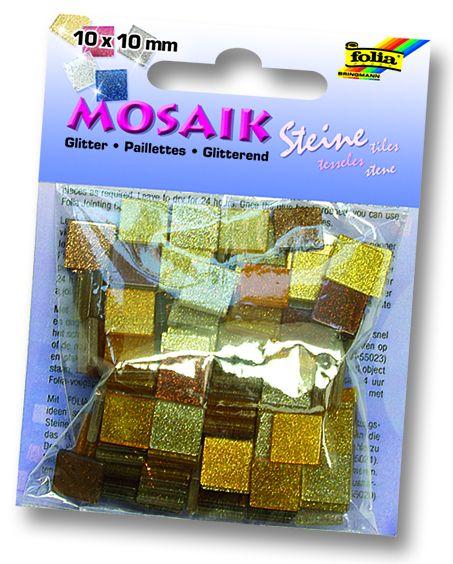 MOSAICS - Мозайка  190бр 10 х 10 мм 45gr BROWN GLITTER