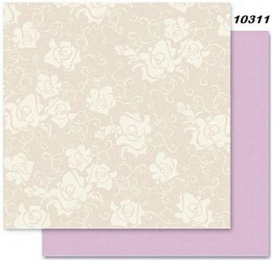 FB Romance 11 - Дизайнерски картон с ембос-глитер елементи - 30,5 Х 30,5 см.