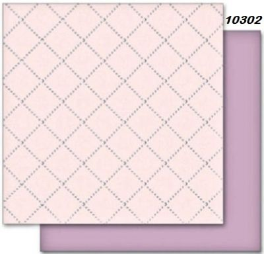 FB Romance 02 - Дизайнерски картон с ембос-глитер елементи - 30,5 Х 30,5 см.