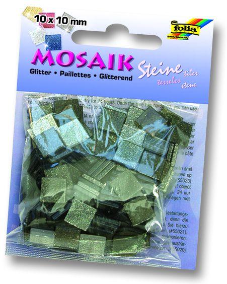 MOSAICS - Мозайка  190бр 10 х 10 мм 45gr GRAY GLITTER