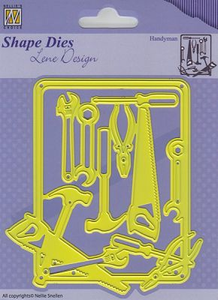Shape Dies Lene Design Handy-man 97x106mm  - Фигурална щанца за рязане и релеф,  SDL040