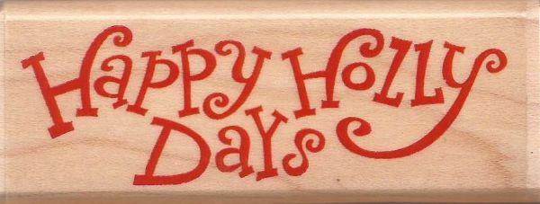 STAMPABILITIES USA - Дизайнерски гумен печат 7 x 2 cm HAPPY HOLYDAYS