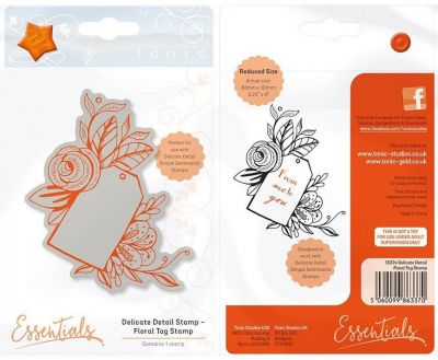 TONIC FLORAL  tag STAMP - Гумен КЛИНГ печат