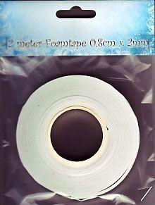 FOAM TAPE  - 3Д двойно лепяща лента 2м x 0.8см х 2мм.
