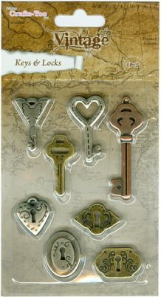 Crafts Too Vintage Selection - Keys & Locks 8pcs