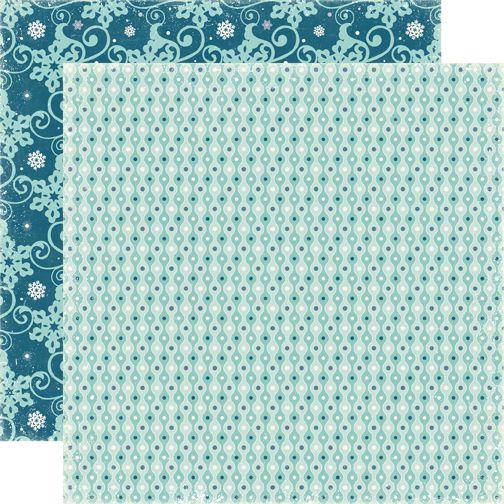 ECHO PARK * SLEDDING - Дизайнерски картон  30,5 Х 30,5 см.