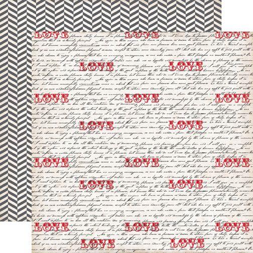 ECHO PARK USA # YOURS TRULY - Дизайнерски картон  30,5 Х 30,5 см.