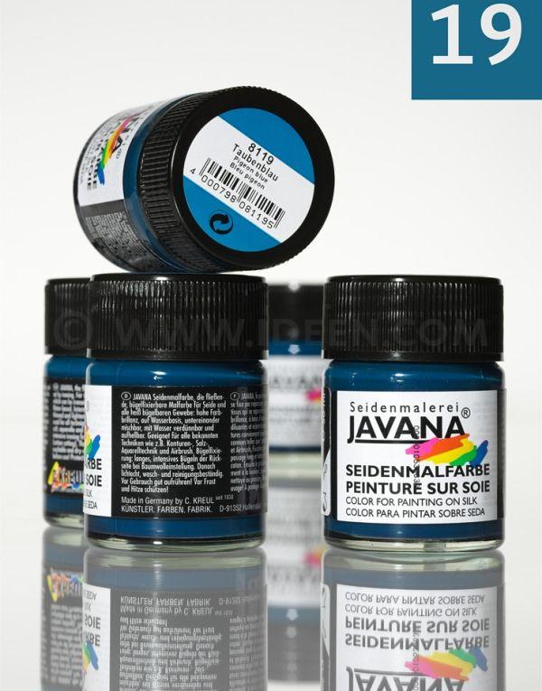 JAVANA SILK 50ml - Пигментна боя за рисуване върху коприна DOVE BLUE