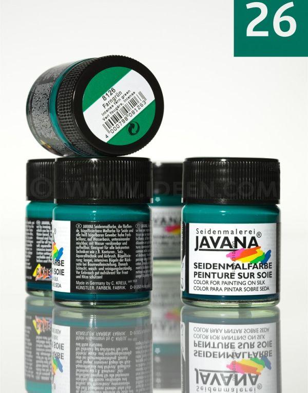 JAVANA SILK 50ml - Пигментна боя за рисуване върху коприна  FERN GREEN
