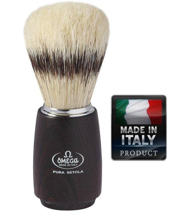 OMEGA 11712 Pure bristle shaving brush BADGER EFFECT 115mm