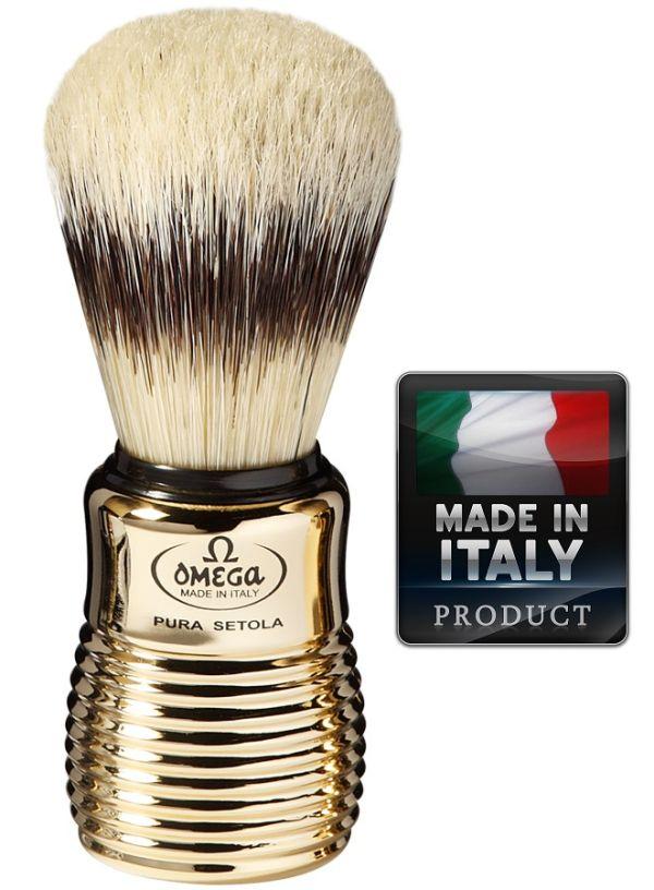 OMEGA 11205 Pure bristle shaving brush BADGER EFFECT 108mm
