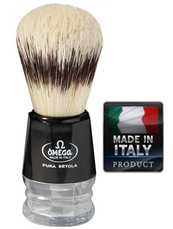 OMEGA 10219 Pure bristle shaving brush BADGER EFFECT 103mm