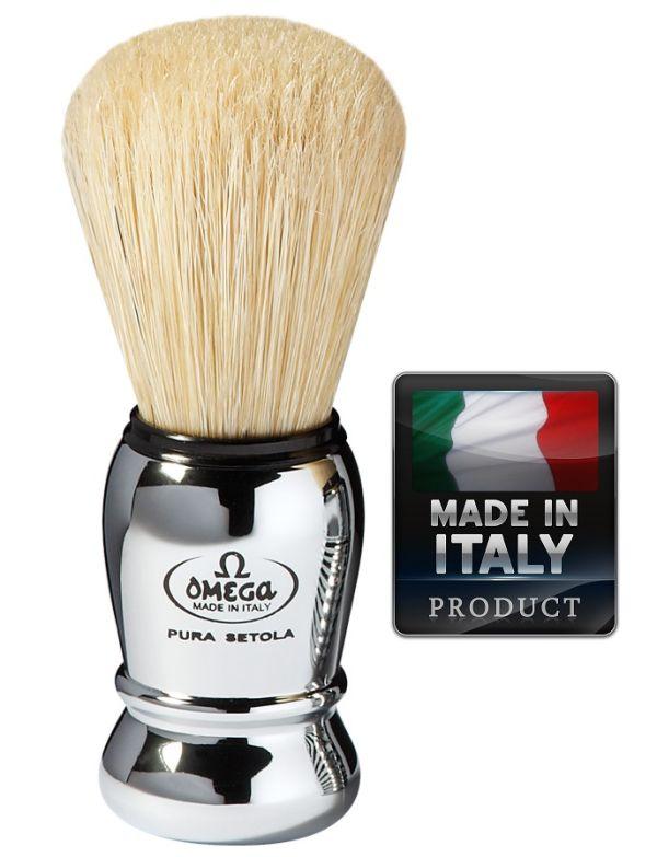 OMEGA 10029 Pure bristle shaving brush 105mm