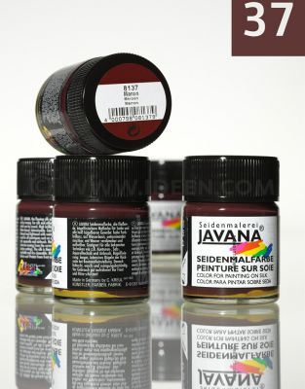 JAVANA SILK 50ml - Пигментна боя за коприна MAROON