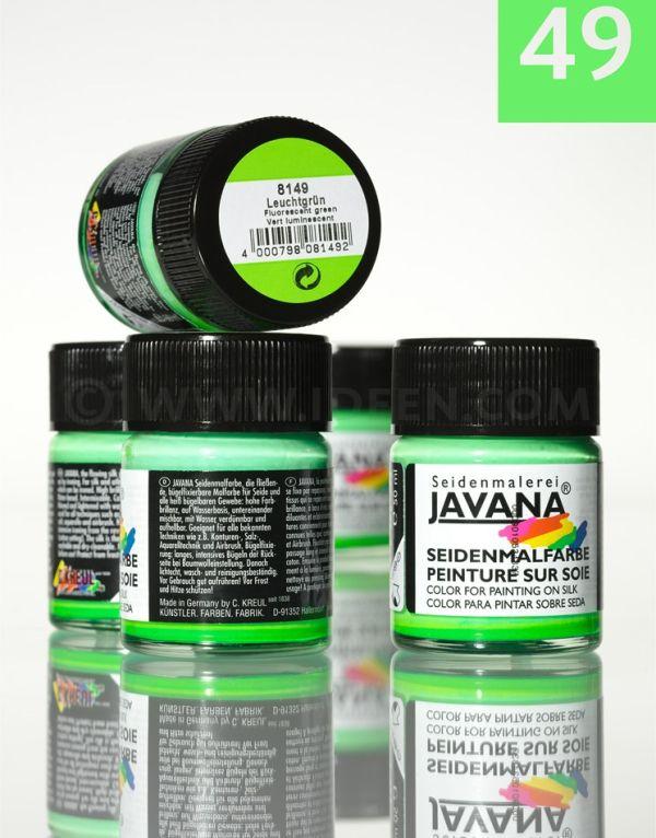 JAVANA SILK 50ml  - Пигментна боя за коприна FLUOR GREEN
