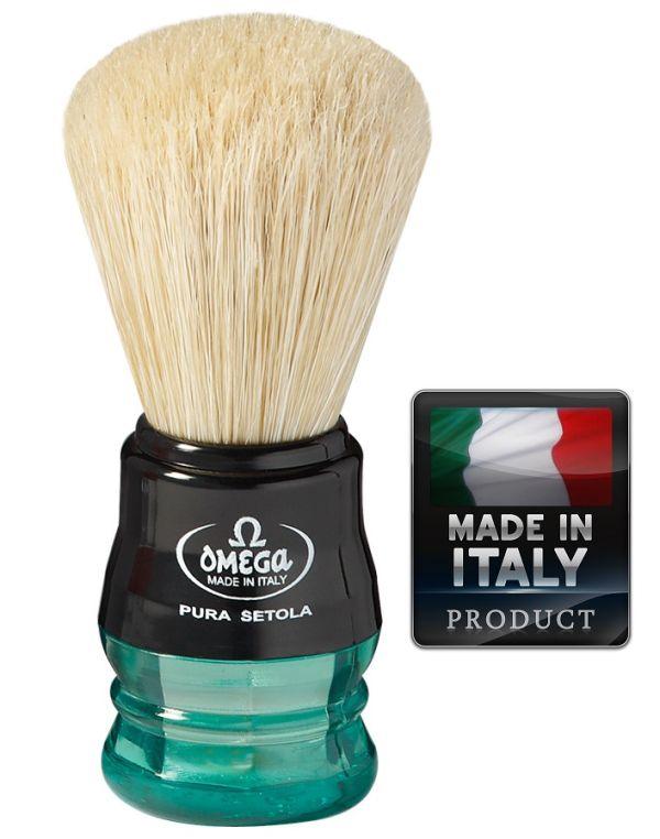 OMEGA 10777 Pure bristle shaving brush 98mm - Четка за бръснене