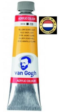 VAN GOGH Superfine ACRYLIC 228 - ЕКСТРА Фин АКРИЛ 40мл. YELLOW OCHRE LIGHT