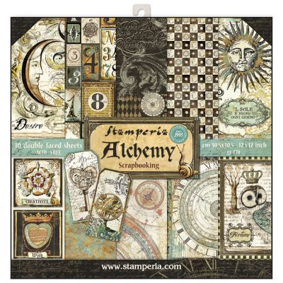 "STAMPERIA Double Face Sheets 10 Pack  - Дизайнерски блок 12""x12"" / Alchemy"