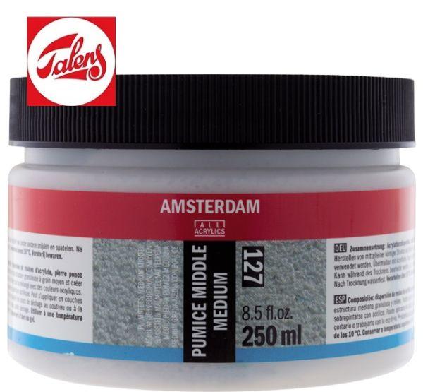 Amsterdam PUMICE MIDDLE MEDIUM TALENS - Средно фина структурна / пясъчна паста 250мл.