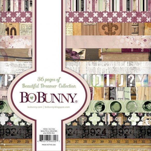 "BoBunny BEAUTIFUL DREAMER 6x6 Pad - Дизайнерски блок 6""х6"" / 36листа"