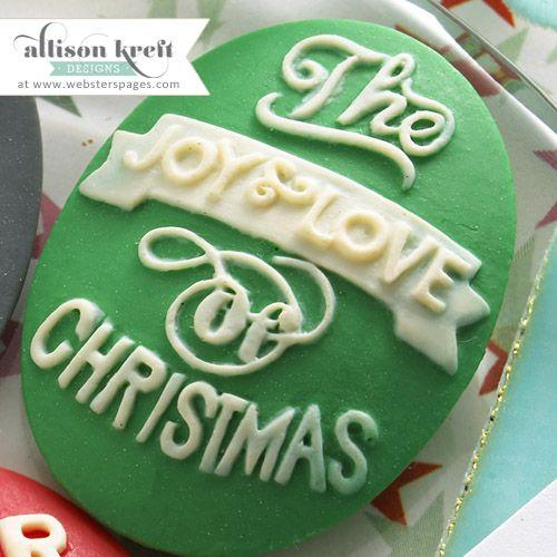 ALLISON KREFT DESIGNS RESIN - Деко  от полимер CHRISTMAS GREEN