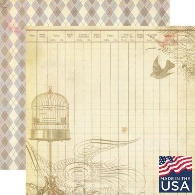 AUTHENTIQUE USA # PLEASANT 12 X 12  - Дизайнерски скрапбукинг картон 30,5 х 30,5 см.
