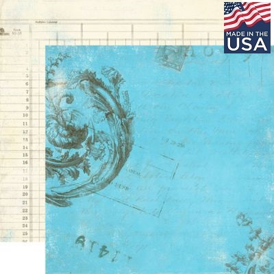 AUTHENTIQUE USA # ITENARY 12 X 12  - Дизайнерски скрапбукинг картон 30,5 х 30,5 см.