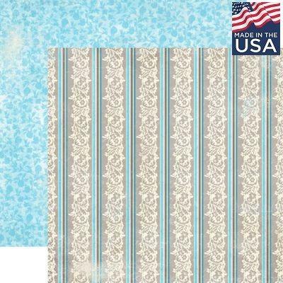 AUTHENTIQUE USA # STROLL 12 X 12  - Дизайнерски скрапбукинг картон 30,5 х 30,5 см.