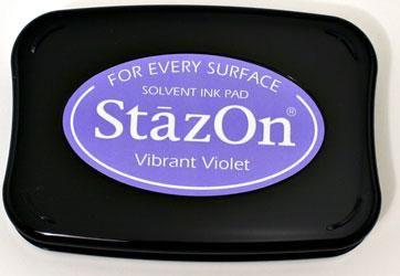 StazOn, Solvet ink pad - Тампон с мастило за твърди и неабсорбиращи повърхности - Vibrant violet