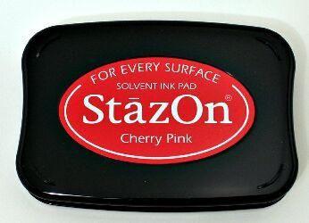 StazOn, Solvet ink pad - Тампон с мастило за твърди и неабсорбиращи повърхности - Cherry pink