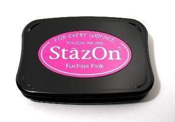 StazOn, Solvet ink pad - Тампон с мастило за твърди и неабсорбиращи повърхности - Fuchsia pink