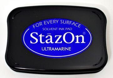StazOn, Solvet ink pad - Тампон с мастило за твърди и неабсорбиращи повърхности - Ultramarine