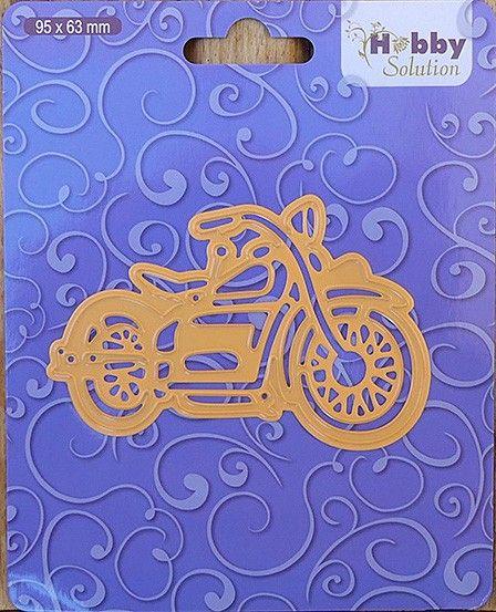 "Hobby Solution dies ""motorbike"" 96x63mm - Фигурална щанца за рязане и релеф HSFD001"