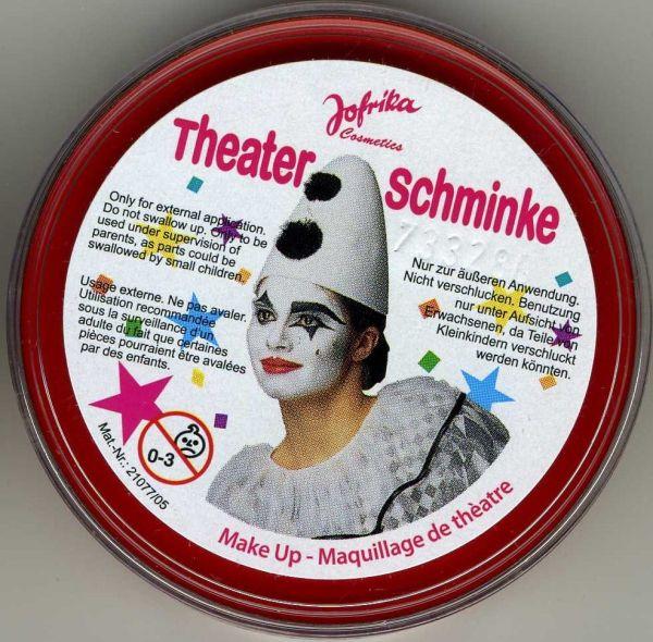Jofrika-Germany, професионална театрална грим-боя за лице и тяло 25гр. - ЧЕРВЕНО