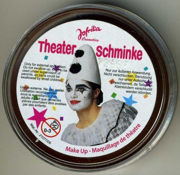 Jofrika - Germany, театрална грим-боя за лице и тяло 25гр. (профи серия) - КАФЯВО