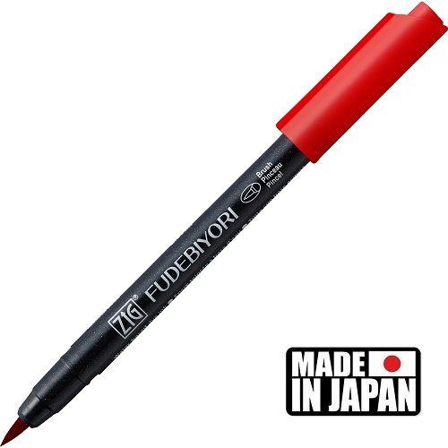 FUDEBIYORI BRUSH PEN * JAPAN - маркер четка CARMINE RED