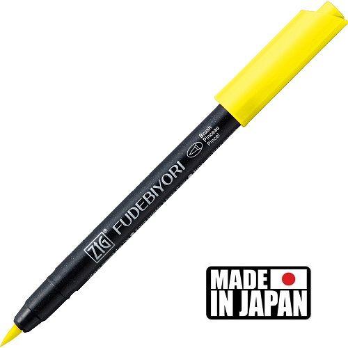 FUDEBIYORI BRUSH PEN * JAPAN - маркер четка LEMON YELLOW