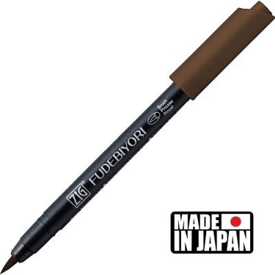 FUDEBIYORI BRUSH PEN * JAPAN - маркер четка DARK BROWN