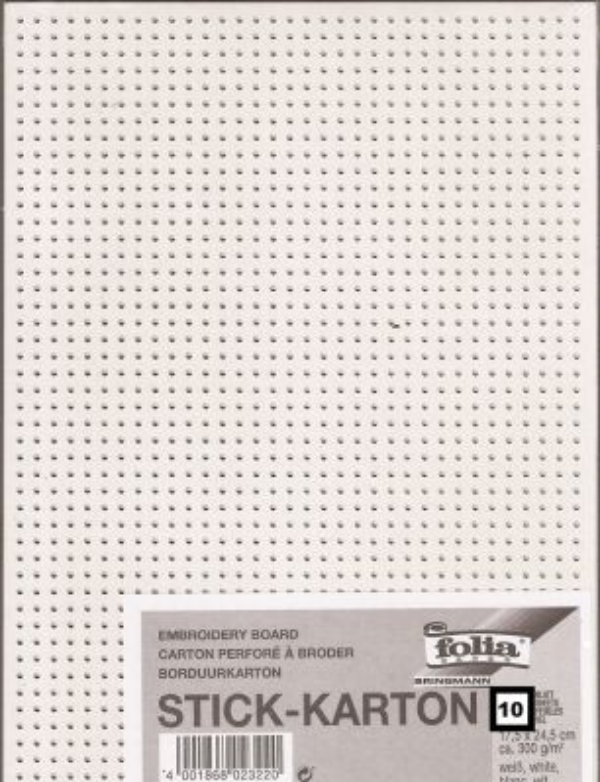 EMBROIDERY BOARD 10pc - Перфориран картон за бродерия 17,5 х 24,5 см 300г  / 10бр