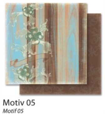 FB Autumn 05 - Дизайнерски картон с ембос-глитер елементи - 30,5 Х 30,5 см.